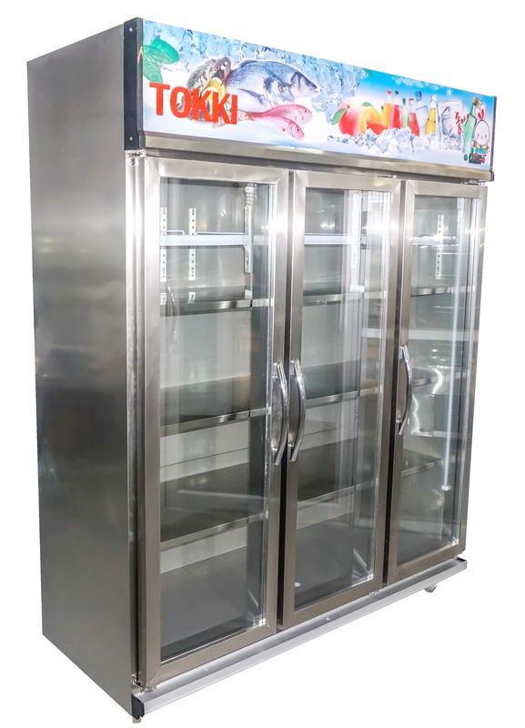 ตู้แช่เครื่องดื่ม Stainless 3 ประตู TOKKI กระต่าย รุ่น TK-3378DS ขนาด 37 คิว จัดส่งฟรี!.02-8050094-5
