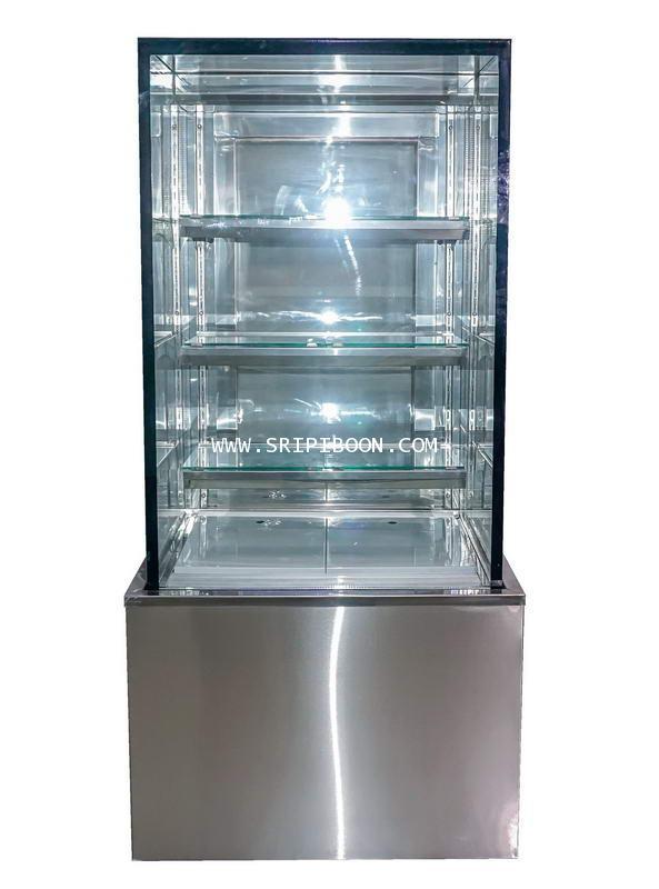ตู้แช่เค๊ก, ตู้เค๊ก กระจกเหลี่ยม TOKKI กระต่าย รุ่น TKK-90QSH ขนาดยาว 90 ซ.ม. (สูง 150 ซ.ม.)