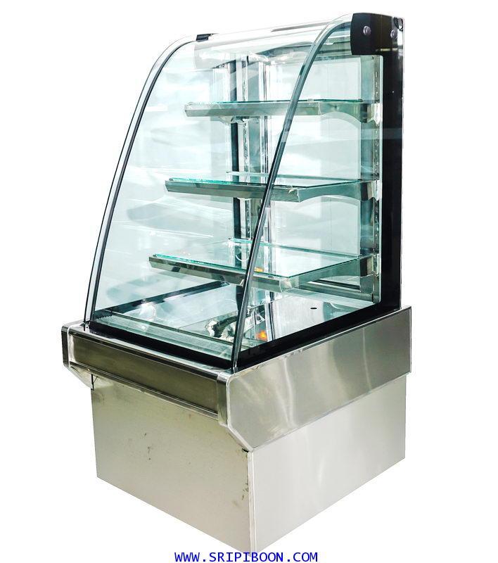 ตู้แช่เค๊ก, ตู้เค๊ก กระจกโค้ง TOKKI กระต่าย รุ่น TKK-120C ขนาดยาว 120 ซ.ม. (ชั้นอลูมิเนียม)