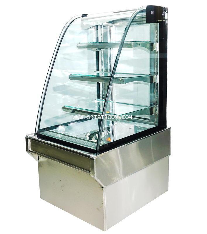 ตู้แช่เค๊ก, ตู้เค๊ก กระจกโค้ง TOKKI กระต่าย รุ่น TKK-100CS ขนาดยาว 100 ซ.ม. (ชั้นสแตนเลส)