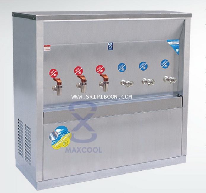 ตู้ทำน้ำเย็น-น้ำร้อน แบบ ต่อท่อประปา MAXCOOL แม็คคูล รุ่น MCH-6P (H3C3) (แบบแผงรังผึ้ง) IE9XX