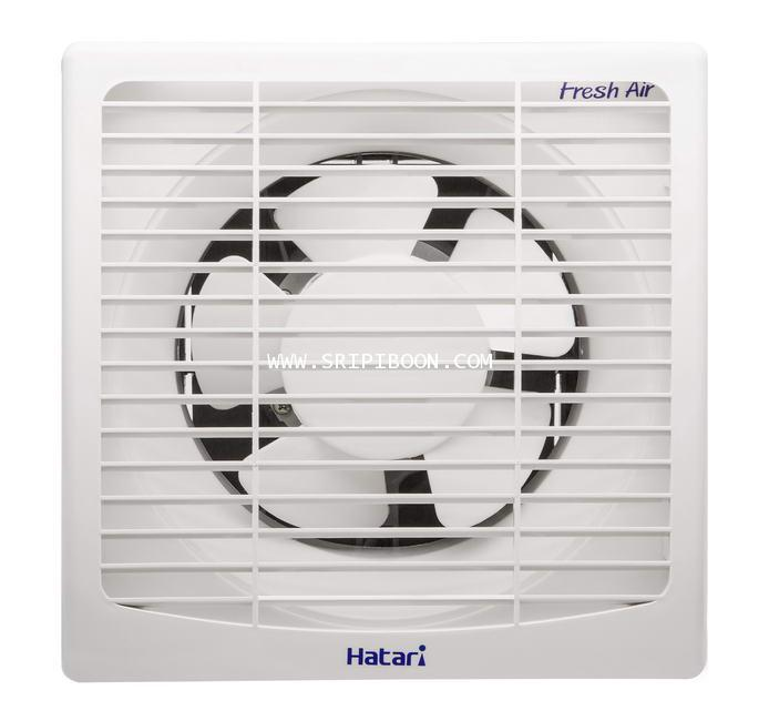 พัดลมดูดอากาศ ติดผนัง HATARI ฮาตาริ HT-VW15M6(G) ใบพัด 6 นิ้ว พร้อมวงกบติดตั้ง