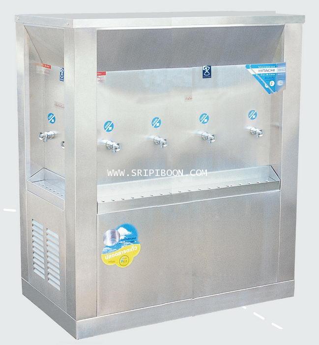 ตู้ทำน้ำเย็น แบบ 3 ด้าน 8 หัวก๊อก MAXCOOL แม็คคูล รุ่น OASIS  OS-4 แบบแผงรังผึ้ง EI9XX