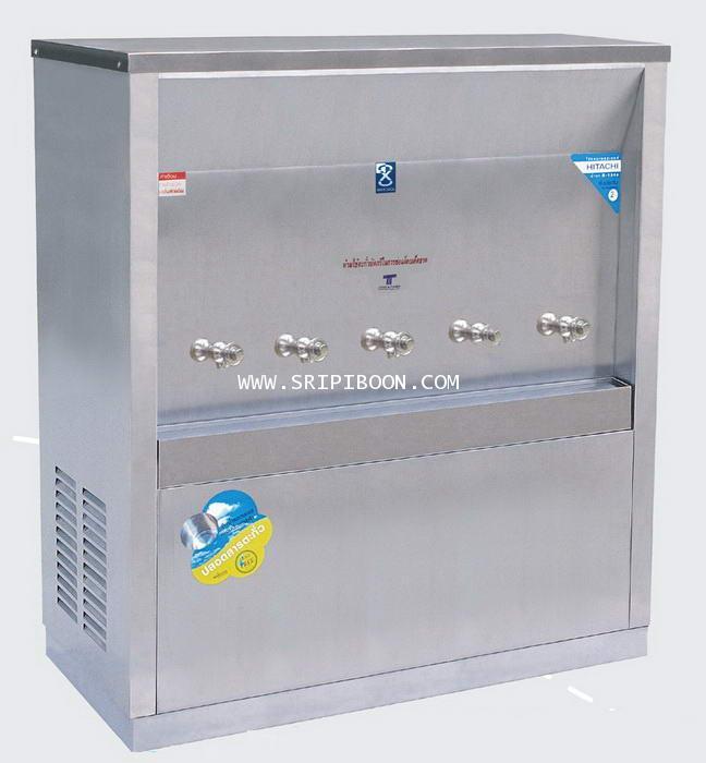 ตู้น้ำเย็น  แบบ ต่อท่อประปา MAXCOOL แม็คคูล รุ่น MC-5P 5 หัว (ก๊อกตุ๊กตา) แบบแผงรังผึ้ง EEUXX