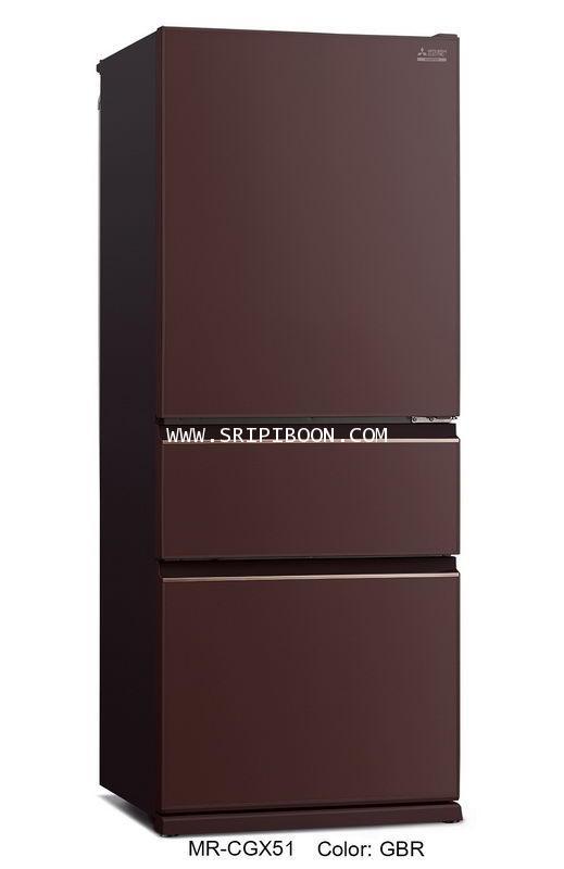 ตู้เย็น 3 ประตู MITSUBISHI มิตซูบิชิ MR-CGX51EP ระบบ NEURO INVERTER 14.6 คิว บริการจัดส่งถึงบ้าน!.