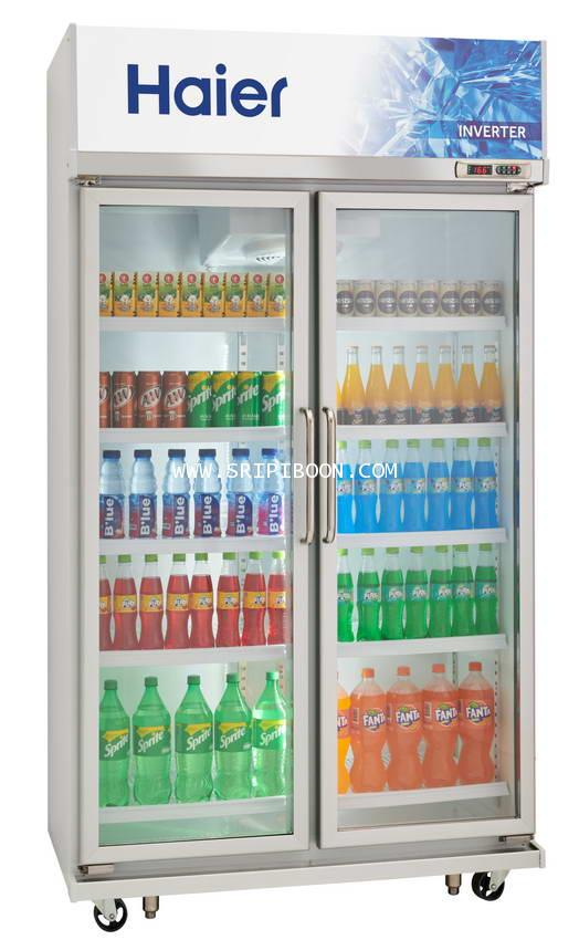 ตู้แช่เครื่องดื่ม, ตู้แช่เย็น รุ่น SC-1400PCS2-IVTV2 HAIER ไฮเออร์  ระบบ Inverter ขนาด 23.8 คิว