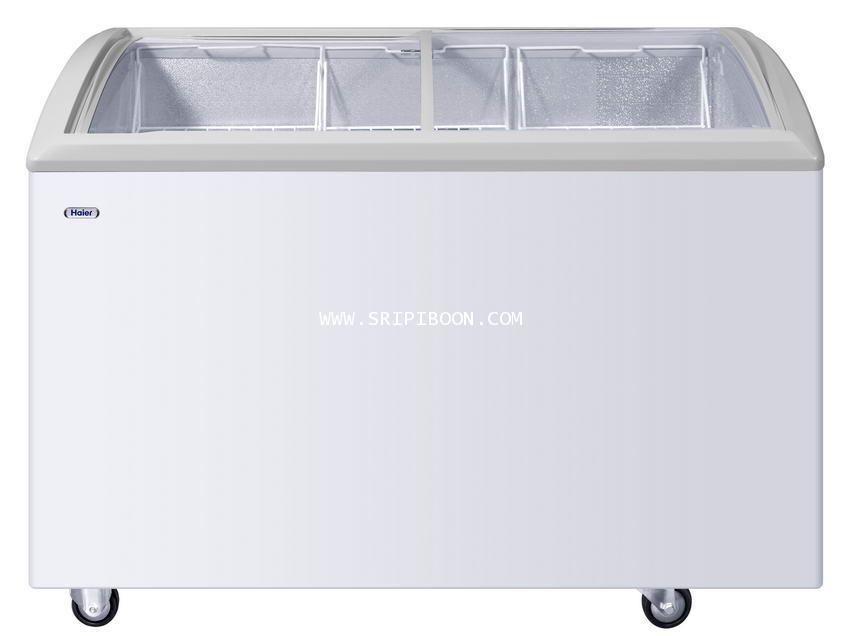 ตู้แช่ ; ตู้แช่แข็ง  HAIER ไฮเออร์ SD-262R ขนาด 7.0 คิว (ฝากระจกโค้ง) จัดส่งด่วน!.ฟรี