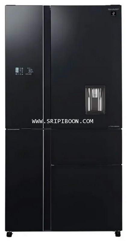 ตู้เย็น SHARP ชาร์ป 5 ประตู รุ่น SJ-FX800GPW-BK ขนาด 23.7 คิว บริการส่งถึงบ้าน!.โทร. 02-8050094-5