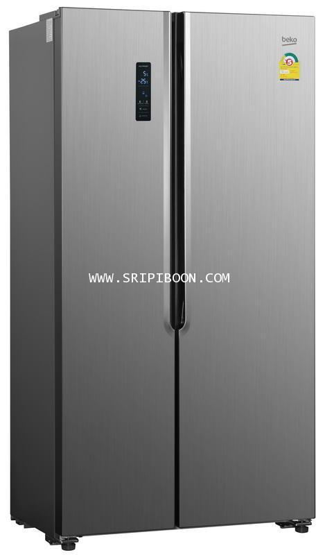 ตู้เย็น SIDE BY SIDE BEKO เบโค รุ่น GNT517XP ขนาด 18.5 คิว ส่งถึงบ้าน! โทร.02-8050094-5