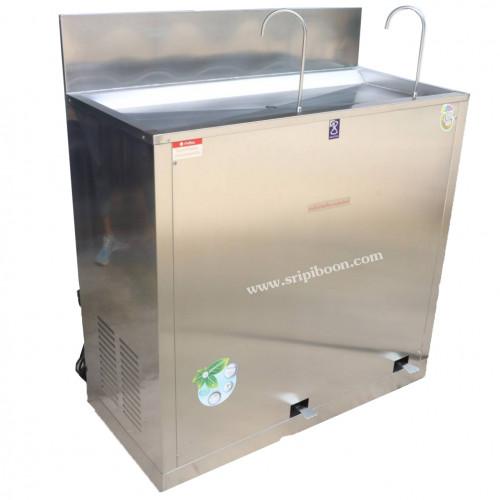 ตู้ทำน้ำเย็น MAXCOOL แม็คคูล MC-RFE2  แบบงวง เท้าเหยียบ 2 หัว สอบถามราคาโทร.โทร.02-8050094-5