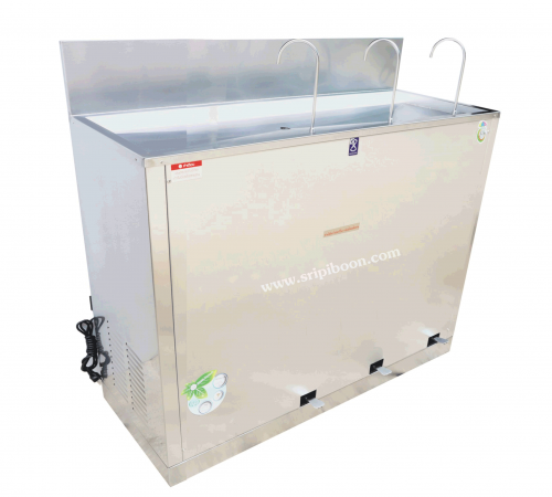 ตู้ทำน้ำเย็น MAXCOOL แม็คคูล MC-RFE3  แบบงวง เท้าเหยียบ 3 หัว สอบถามราคาโทร.โทร.02-8050094-5