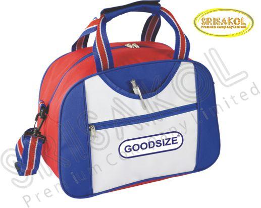 กระเป๋าเดินทาง สีแดง /สีน้ำเงิน สลับ สีขาว รหัส A1835-14B