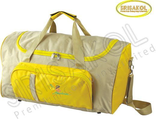 กระเป๋าเดินทาง สีกากี สลับ สีเหลือง รหัส A1836-1B