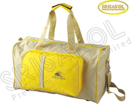 กระเป๋าเดินทาง สีกากี สลับ สีเหลือง รหัส A1836-2B