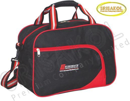 กระเป๋าเดินทาง สีดำ สลับ สีแดง รหัส A1847-16B