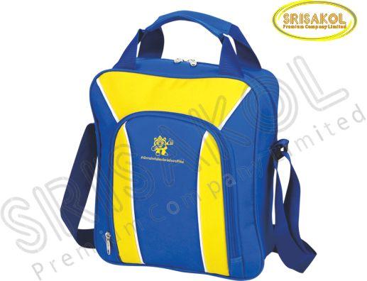 กระเป๋าสะพาย สีน้ำเงิน สลับ สีเหลือง รหัส A1826-9B