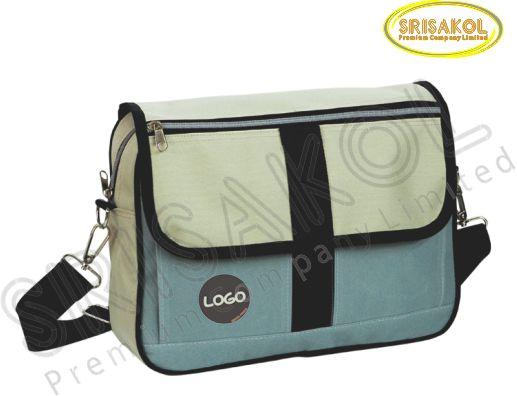 กระเป๋าสะพาย สีครีม สลับ สีเทา รหัส A1827-5B