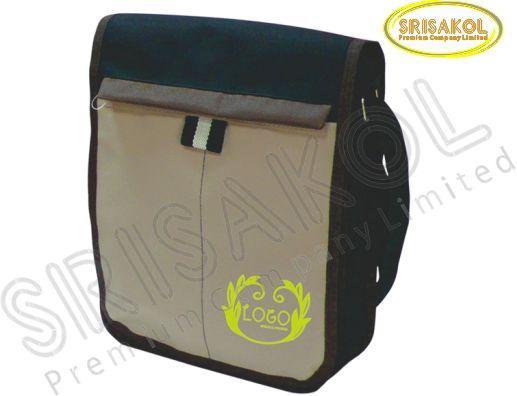 กระเป๋าสะพาย สีดำ สลับ สีกากี รหัสA1828-11B