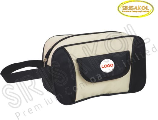 กระเป๋า handbag สีครีม สลับ สีดำ  รหัส A1824-9B