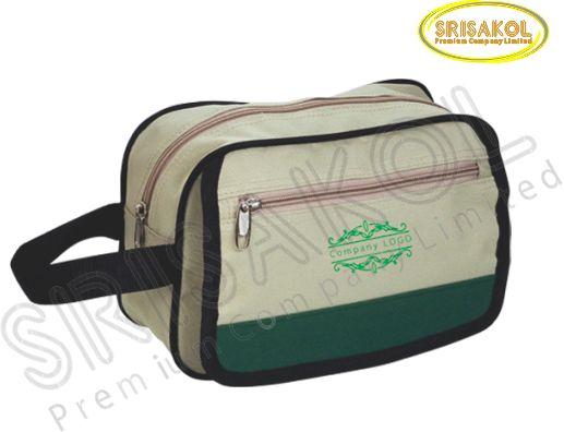 กระเป๋า handbag สีกากี สลับ สีเขียวเข้ม  รหัส A1825-11B