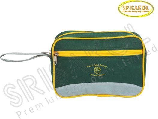 กระเป๋า handbag สีเขียว สลับ สีเทา  รหัส A1827-13B