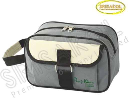 กระเป๋า handbag  สีเทา สลับ สีครีม รหัส A1830-23B
