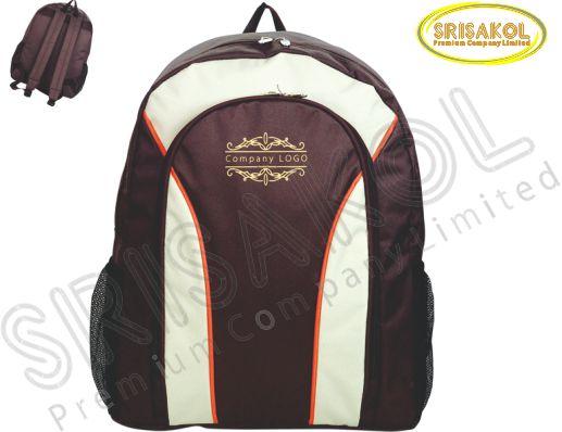 กระเป๋าเป้  สีน้ำตาล สลับ สีครีม รหัส A1825-7B