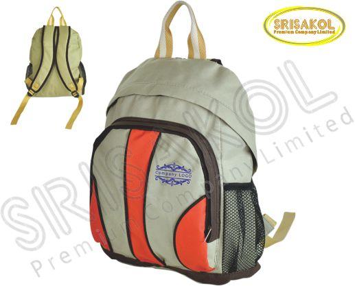 กระเป๋าเป้ สีกากี สลับ สีส้ม รหัส A1828-3B