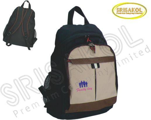 กระเป๋าเป้ สีดำ สลับ สีกากี/สีน้ำตาล รหัส A1828-14B