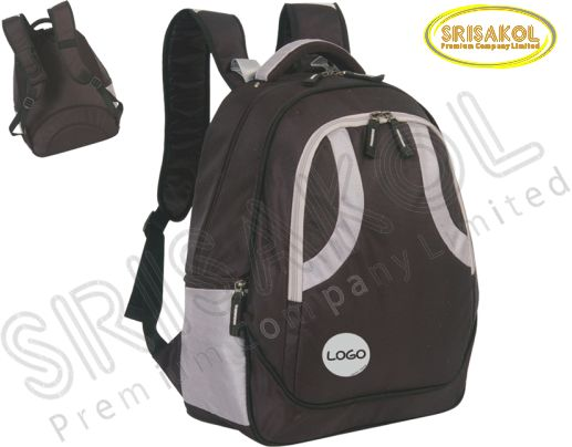 กระเป๋าเป้ใส่ Note book สีดำ สลับ สีเทา รหัส A1837-18B