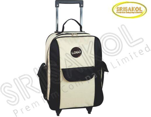 กระเป๋ามีล้อลาก  สีครีม สลับ สีดำ รหัส A1824-8B