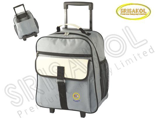กระเป๋ามีล้อลาก  สีเทา สลับ สีครีม รหัส A1830-20B