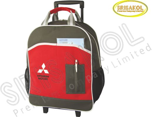 กระเป๋ามีล้อลาก  สีเทา สลับ สีแดง รหัส A1833-8B