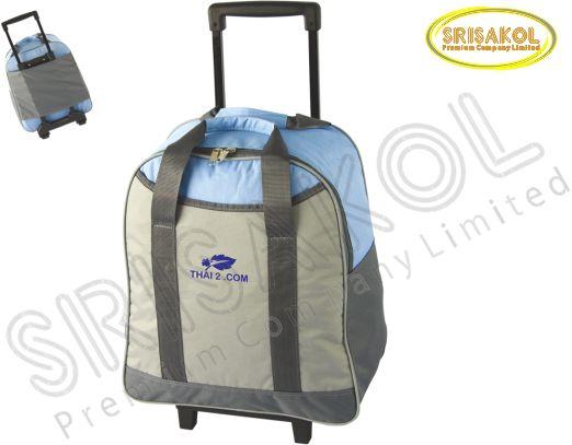 กระเป๋ามีล้อลาก  สีฟ้า สลับ สีเทา รหัส A1833-20B