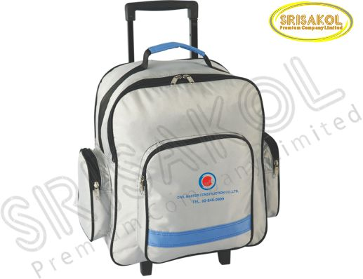กระเป๋ามีล้อลาก  สีเทา สลับ สีฟ้า รหัส A1836-7B