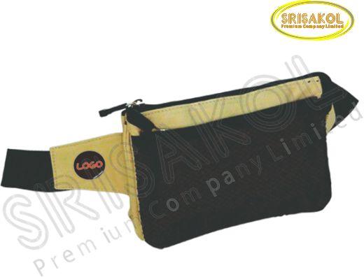กระเป๋าคาดเอว สีกากี สลับ สีดำ รหัส A1846-1B