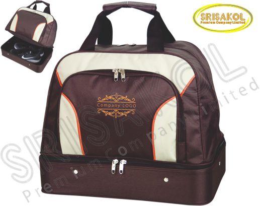 กระเป๋ากอล์ฟ สีน้ำตาล สลับ สีครีม รหัส A1825-6B