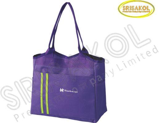 กระเป๋าช้อปปิ้ง สีม่วง รหัส A1831-7B