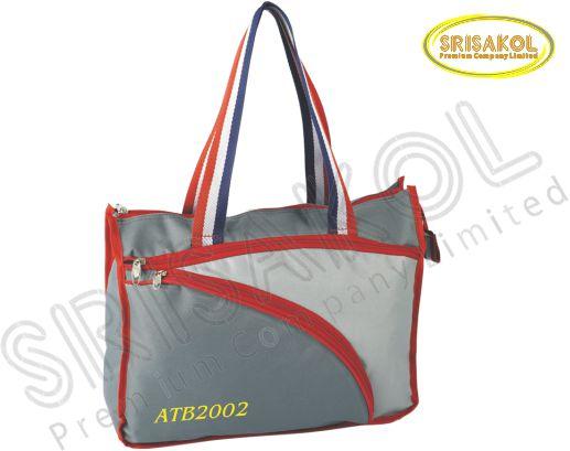 กระเป๋าช้อปปิ้ง สีเทาเข้ม สลับ สีเทาอ่อน รหัส A1831-16B