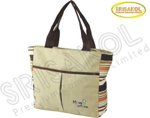 กระเป๋าช้อปปิ้ง สีกากี รหัส A1832-7B