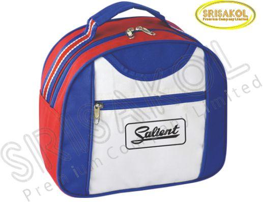 กระเป๋าหิ้วเล็ก สีแดง สลับ สีน้ำเงิน สลับ สีขาว รหัส A1835-16B