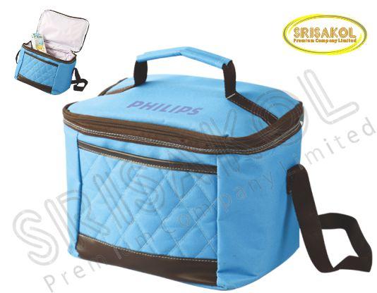 กระเป๋าเก็บความเย็น สีฟ้า  รหัส A1837-6B
