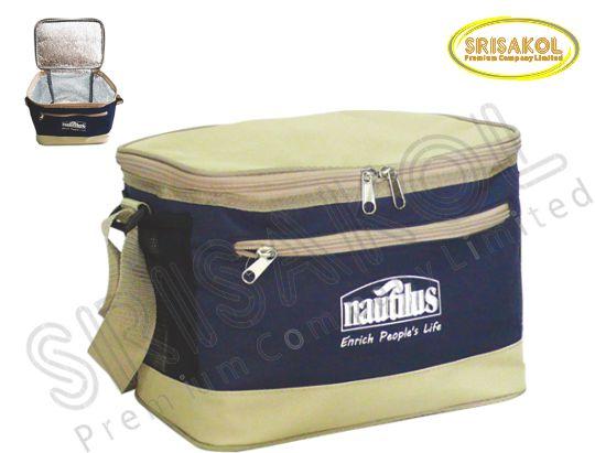 กระเป๋าเก็บความเย็น สีกรมท่า สลับ สีกากี  รหัส A1848-5B