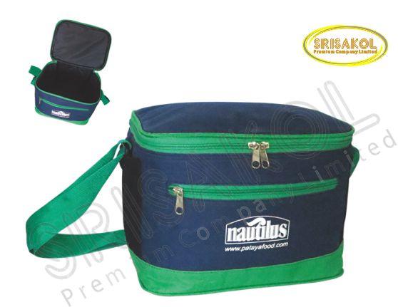 กระเป๋าเก็บความเย็น สีกรมท่า สลับ สีเขียว รหัส A1848-6B