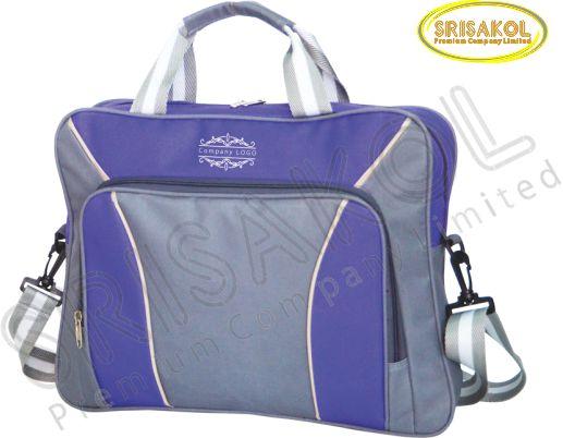 กระเป๋าใส่ Note book สีเทา สลับ สีม่วง รหัส A1826-2B