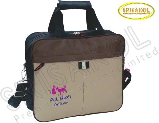 กระเป๋าใส่ Note book สีดำ สลับ สีกากี สลับ สีน้ำตาล รหัส A1828-16B