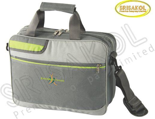 กระเป๋าใส่ Note book สีเทาอ่อน สลับ สีเทาเข้ม รหัส A1834-11B
