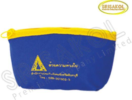 กระเป๋าใส่ของจุกจิก มีซิป  สีน้ำเงิน รหัส A1932-22B