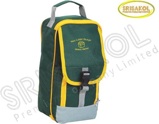 กระเป๋าใส่รองเท้า สีเขียว สลับ สีเทา รหัส A1827-11B