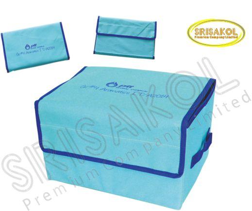 กระเป๋าเก็บของพับเก็บได้  สีฟ้า รหัส A1848-10B